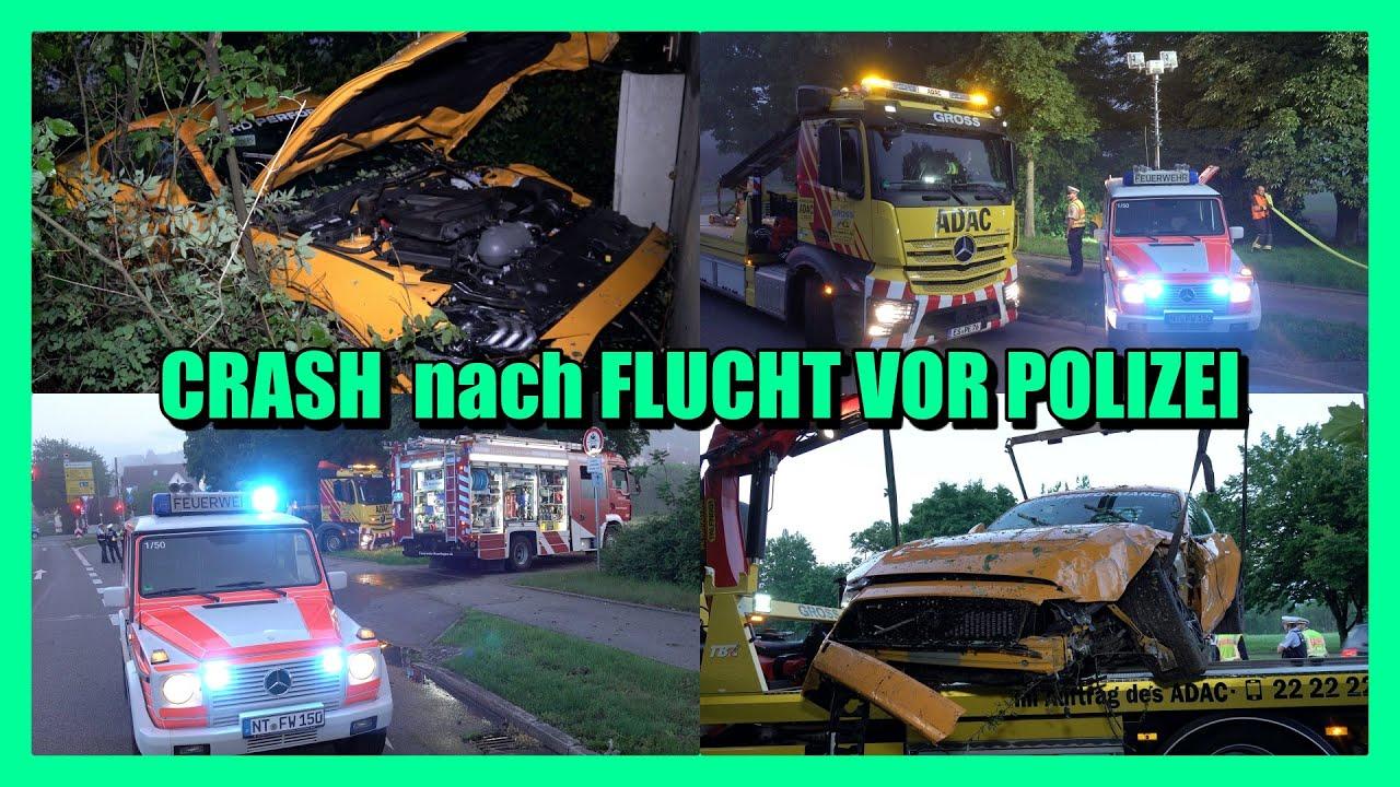 ++ FLUCHTVERSUCH mit FORD MUSTANG GEHT in die HOSE ++ [Polizei & Feuerwehr Nürtingen im Einsatz] [E]