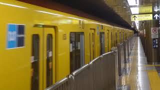 東京メトロ 銀座線1000系 回送列車 丸ノ内線淡路町駅通過シーン
