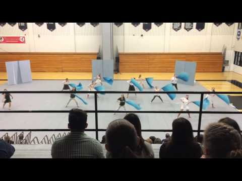 Methacton High School color guard Hatboro show 4/2/16