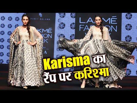 Karisma Kapoor looks elegant at Lakme Fashion Week in Anarkali: Watch Video | FilmiBeat