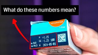 The Numbers On Your Contact Lens (what Do They Mean)   Lens Parameters