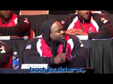 The Kai Greene & Phil Heath Fight At The 2014 Mr. Olympia Press Conference