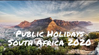 South African Public Holidays In 2020