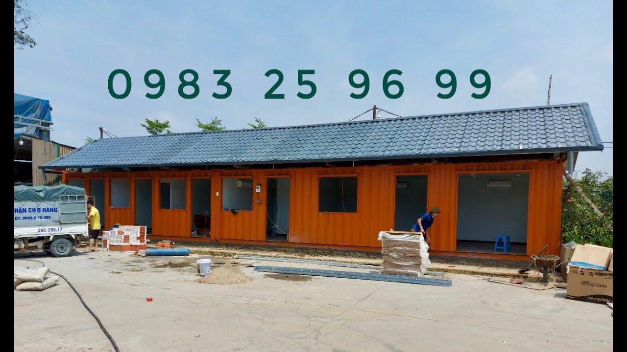 VPBĐS,  Nhà Ở Bằng Container Rộng 4m – Dài 18m