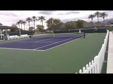 Kei Nishikori practice - Indian Wells 2013