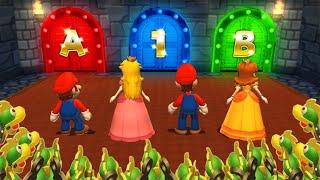 Mario Party 9 MiniGames - Peach Vs Mario Vs Luigi Vs Daisy (Master Difficulty)