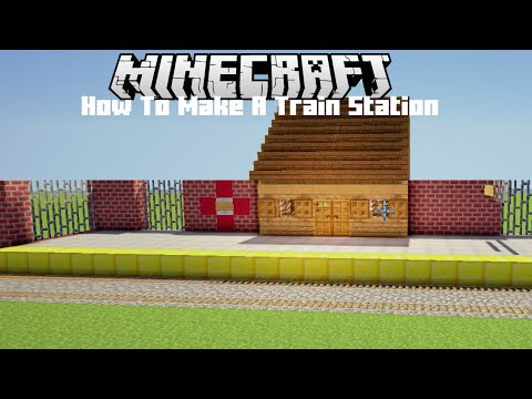 how to build a train station in minecraft