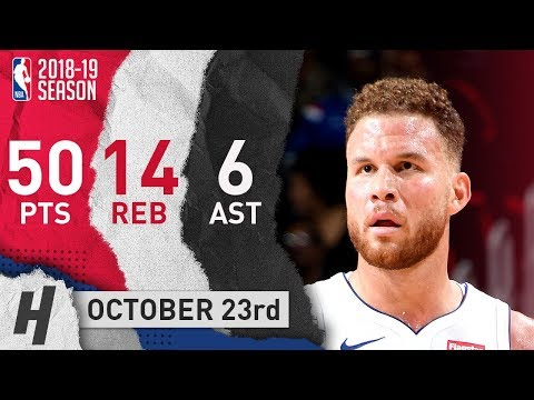 Blake Griffin Full Highlights Pistons vs 76ers 2018.10.23 - 50 Pts, 6 Ast, 14 Reb!