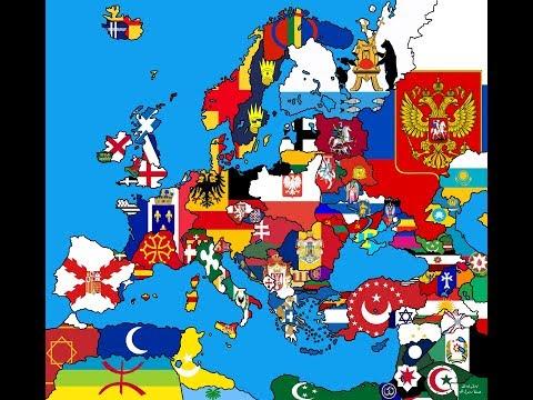 Flag Map Speedart - Alternate Map Of Europe
