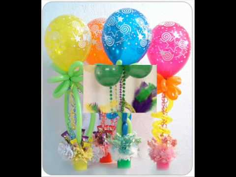 how to make decorations out of balloons