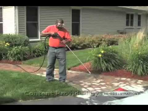 How To Clean Brick Patios And Walkways With A Briggs U0026 Stratton Pressure  Washer