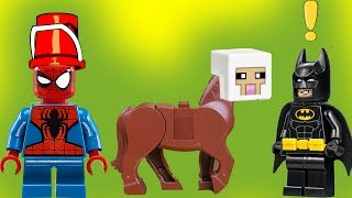 12 подвигов Супергероев. Подвиг №2.  Бэтмен. Супермен. Человек паук. Халк. Лего мультфильмы 2017