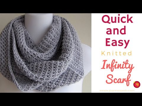 Circle Scarf Knitting Patterns : Project Infinity Scarf - YouTube