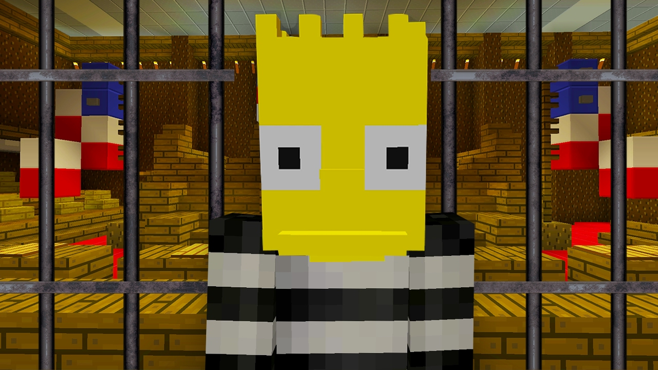 Bart Simpson Goes To Jail