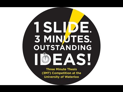 2015 University of Waterloo- Three Minute Thesis (3MT) coaching session