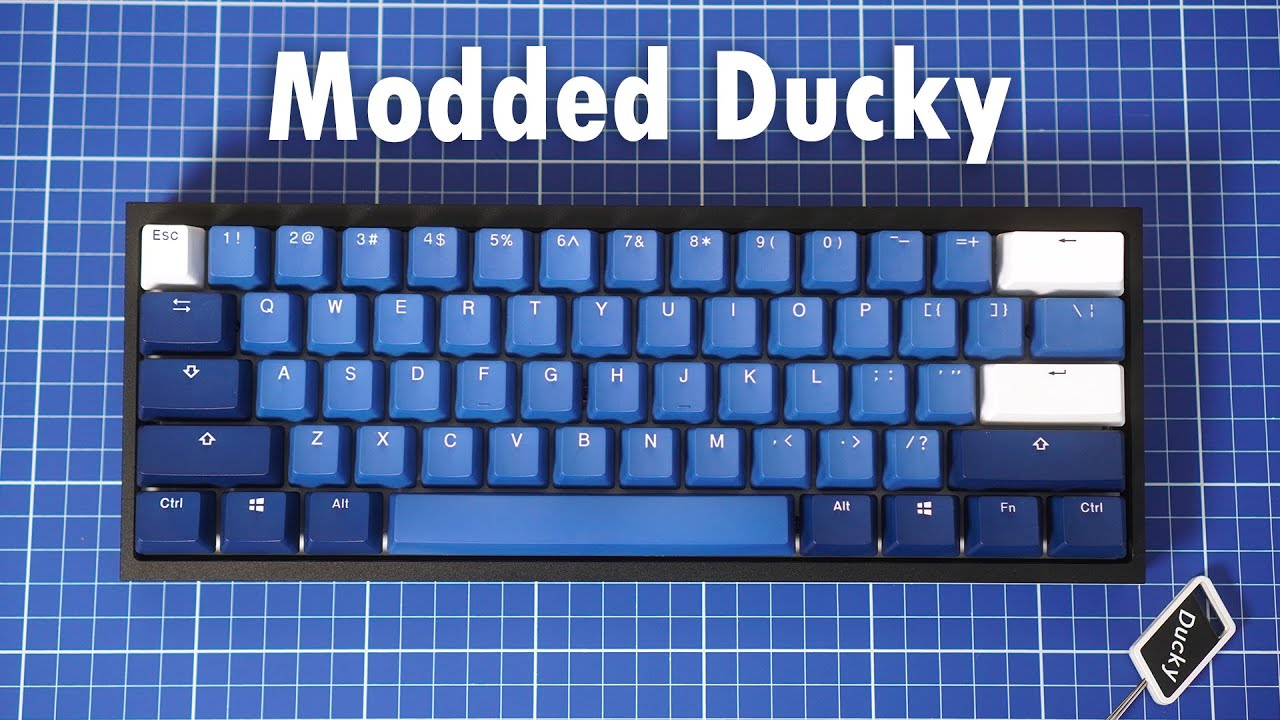 Stock & Modded Ducky One 2 Mini Typing Sounds Comparison (Cherry MX Browns & Black Inks)