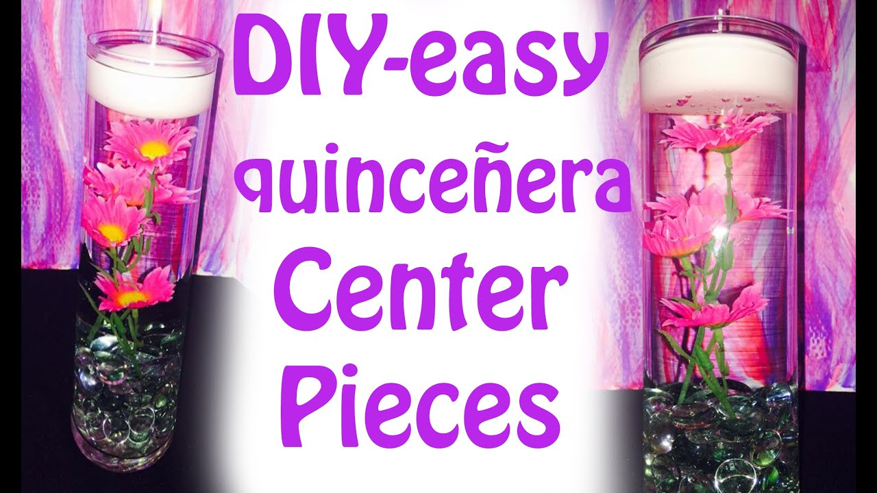 how to make easy quinceanera centerpieces diy youtube rh youtube com