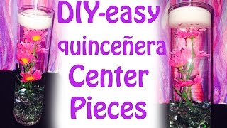 How To Make Easy Quinceanera Centerpieces Diy