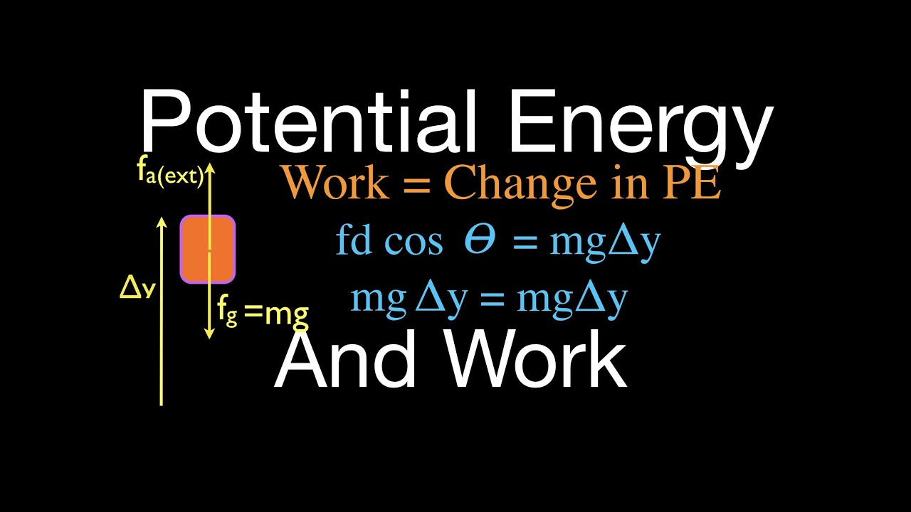 physics gravitational potential energy work done by an