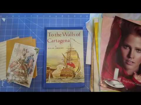 Mini Junk Journal Made out of Manila Envelope PT1 (making the journal)