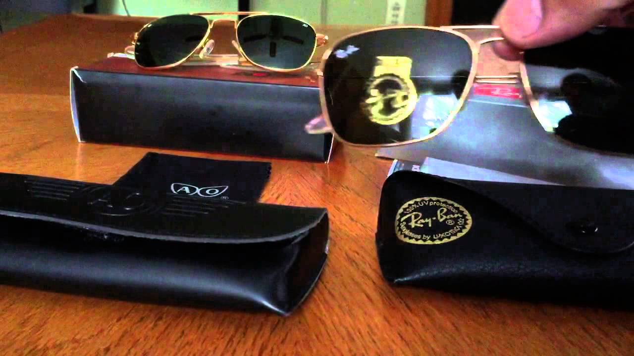 ca35b699133 AO vs Ray Ban Aviators - YouTube