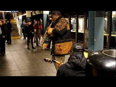 Amazing jazz musicians in New York Subway