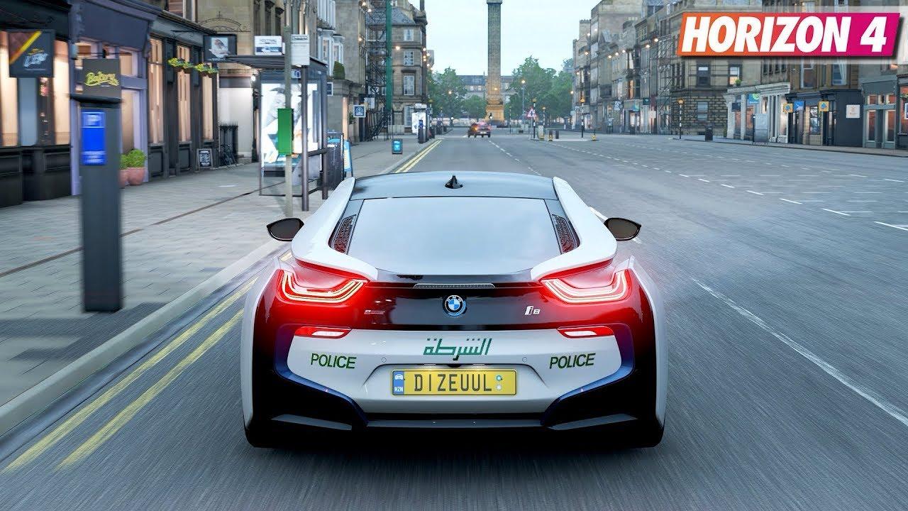 Forza Horizon 4 Bmw I8 Dubai Police Gameplay Youtube