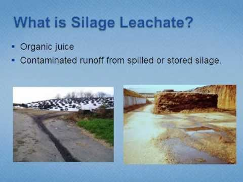 Silage Leachate Collection and Treatment