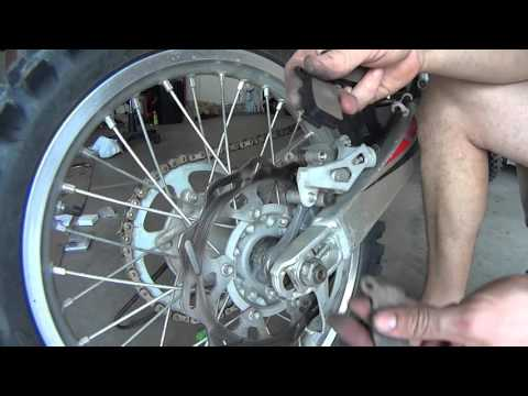 How to replace rear Brake Pads on Dirt Bike YZ250F