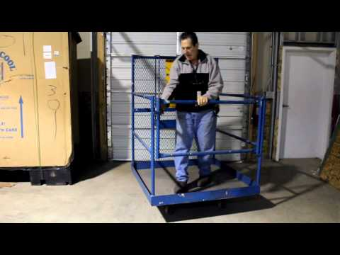 Forklift Work Platform   ..  Used Work Platform  ..  Used Equipment Ohio  ..  For Sale
