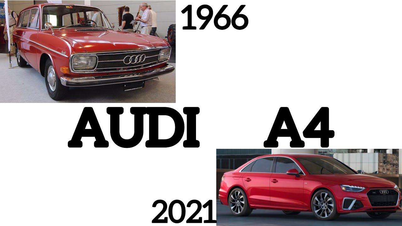 evolution of audi a4 1966  2021 interior  exterior  youtube