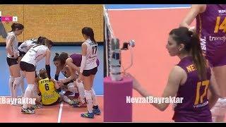 Neslihan Demir Güler'den Sert Smaçlar - Volleyball Headshot (Galatasaray vs Halkbank)