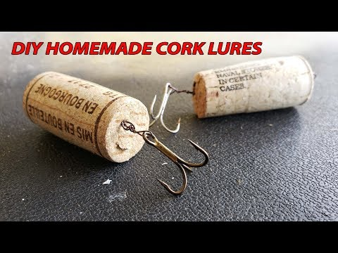 How To Make Fishing Lures with Cork DIY