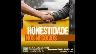 EBD | Deuteronômio 25.13-16 - Honestidade nos negócios - Rev. Ithamar Ximenes
