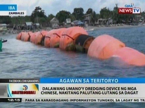 BT: Dalawang umano'y dredging device ng mga Chinese, nakitang palutang-lutang sa dagat