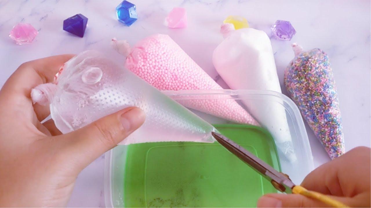 教你自制好玩的無硼砂裱花袋泥。結局太驚艷。你能猜到嗎? - YouTube