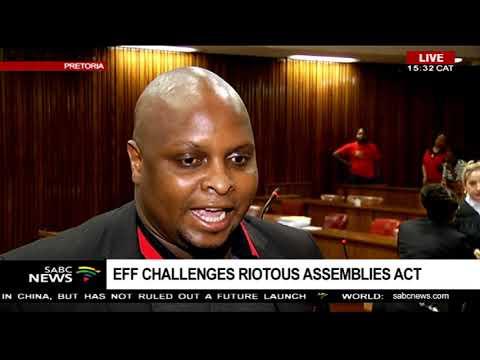 Floyd Shivambu briefs the media on following Malema's court appearence