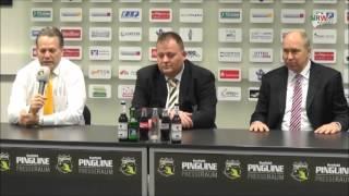 Eishockey: DEL: Pressekonferenz nach dem 3. HF: Krefeld Pinguinen - Eisbären Berlin