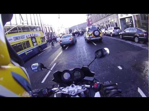 Suzuki Bandit 650 Protest Dublin City Ireland Contour Roam Camera
