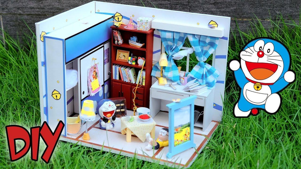 Diy Miniature Dollhouse Kit Nobita Doraemon S Room With Full