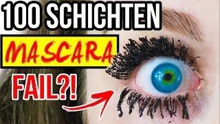 100 SCHICHTEN MASCARA! WIMPERN AUSGEFALLEN -  MEGA FAIL!!