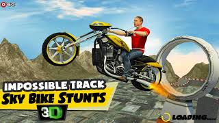 Impossible Track Sky Bike Stunts 3D / Motorcycle Games / Android Gameplay FHD