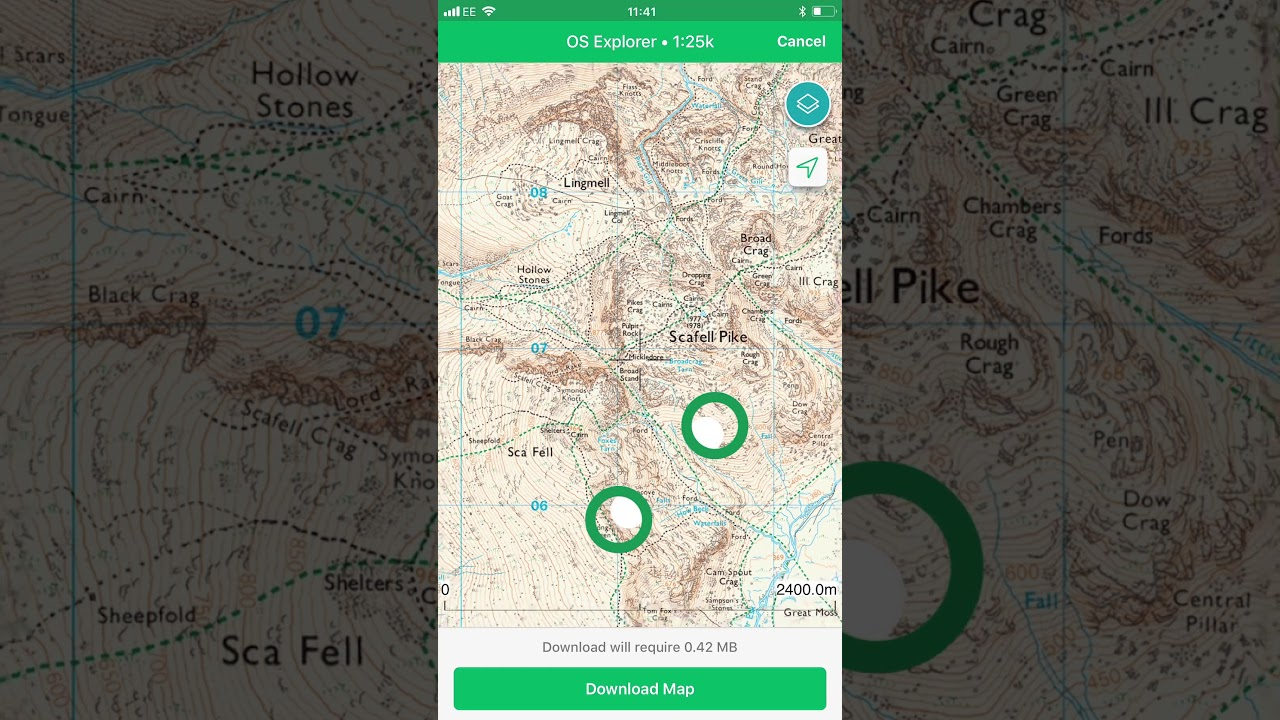 ViewRanger app tutorial: How to save offline maps on print maps, facebook maps, service maps, online interactive maps, advertising maps,