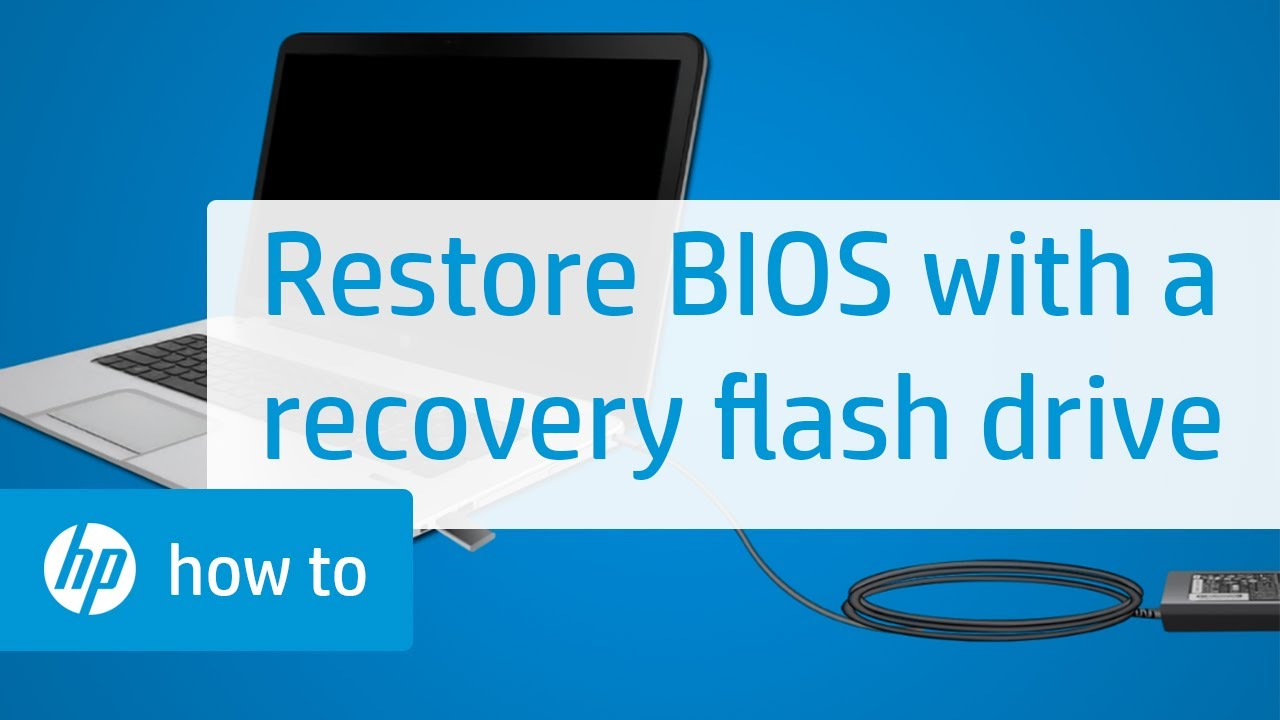 How to Restore the BIOS with a Recovery Flash Drive on HP Notebooks | HP  Notebooks | HP