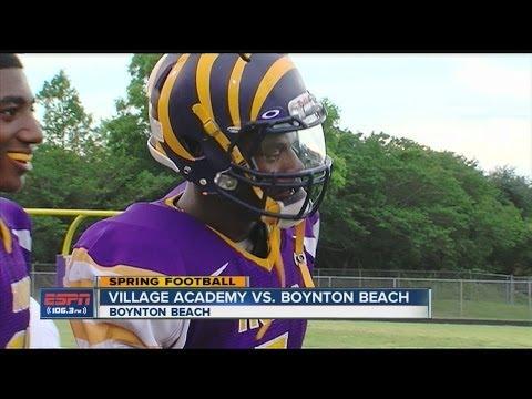 HS Spring Football: Village Academy vs. Boynton Beach