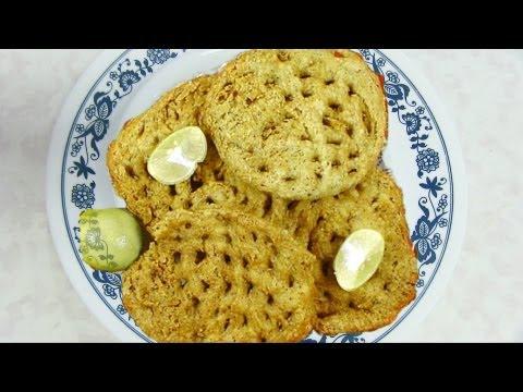 Sarasiya Khaja Video Recipe - Porbandar Khajali -  Fried Flaky Biscuits