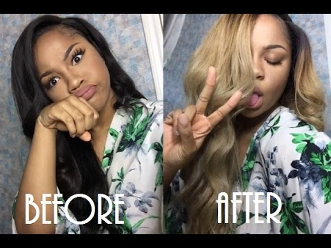 How To Dye Black Weave Ash Blonde 2 Min Vlog Youtube