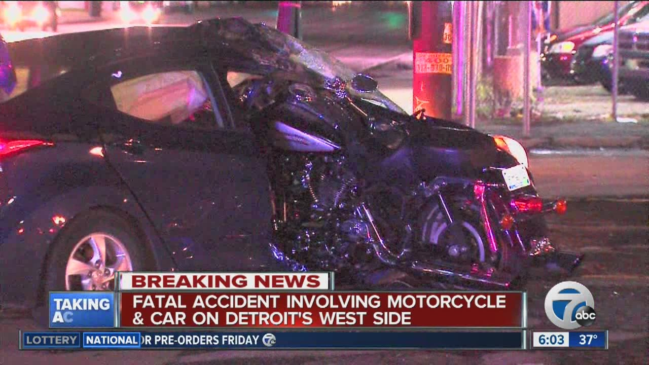 fatal motorcycle/car accident in south west detroit - youtube