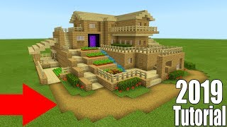 """Minecraft Tutorial: How To Make A Ultimate Wooden Survival Base """"2019 Tutorial"""""""