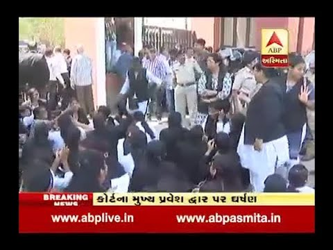 Vadodara : Clash Between Woman Lawyer And Police In News Court